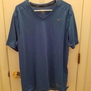 Nike Running Dri Fit with pocket v neck